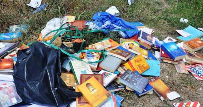 Teröristbaşının kitapları yol kenarında bulundu