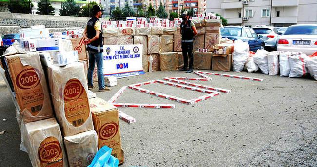 Diyarbakır'da 2 milyon TL'lik kaçak sigara ele geçirildi