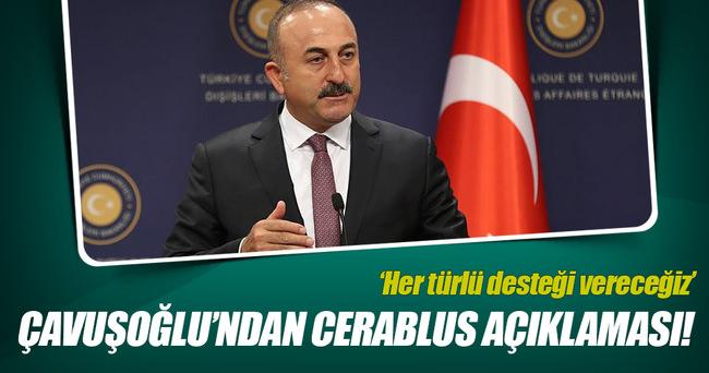 Çavuşoğlu'ndan flaş Cerablus açıklaması!