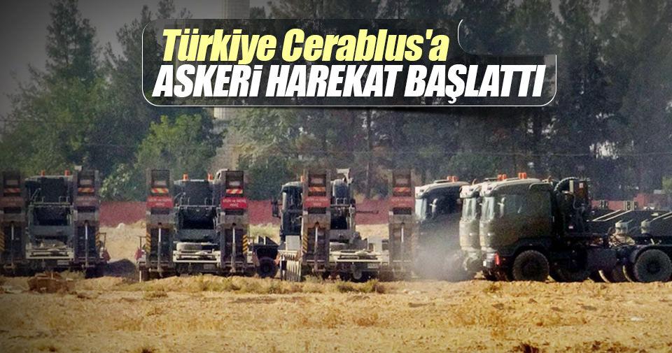 Sondakika: Türkiye Cerablus'a askeri harekat başlattı