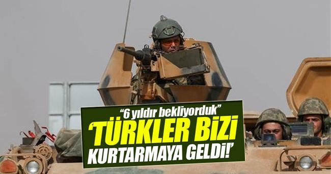 Türk askeri bizi kurtarmaya geldi