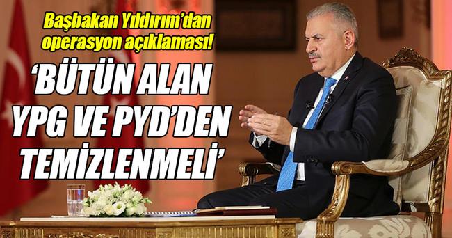 Başbakan Yıldırım'dan kritik operasyon açıklaması!