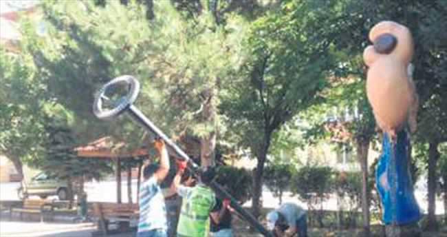 Kazan'da parklara akıllı aydınlatma
