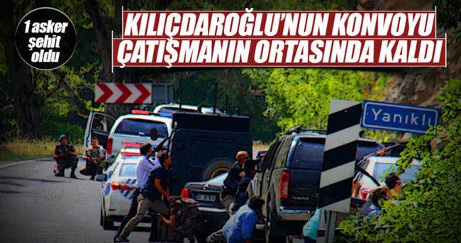 Kılıçdaroğlu'nun konvoyu çatışmanın ortasında kaldı