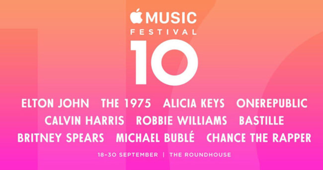 Apple Music Festival 10 yaşında