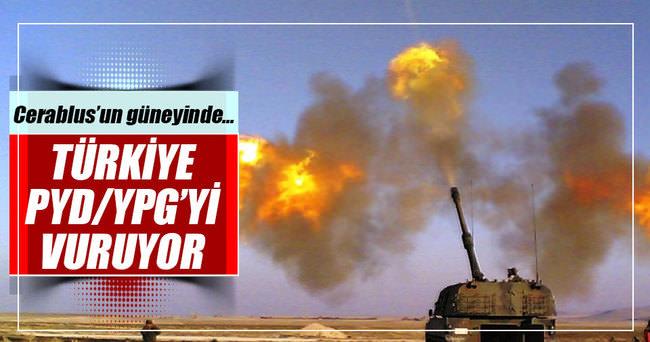 TSK YPG'yi vuruyor