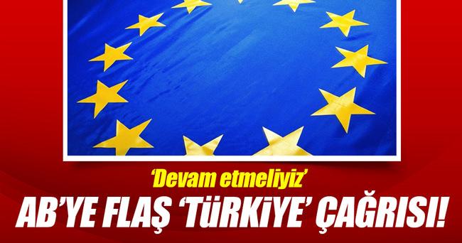 AB'ye Türkiye çağrısı!