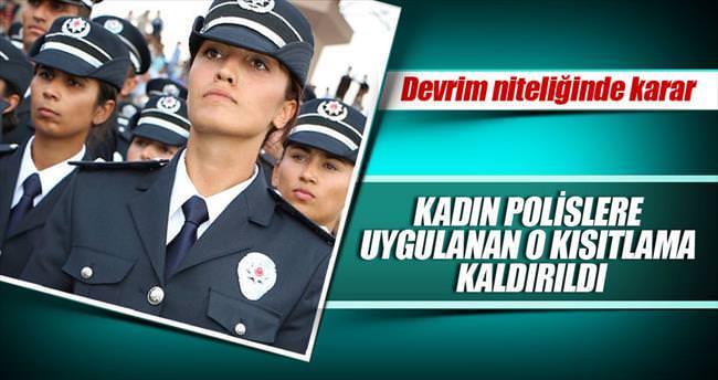 Kadın polisler için başörtüsü devrimi