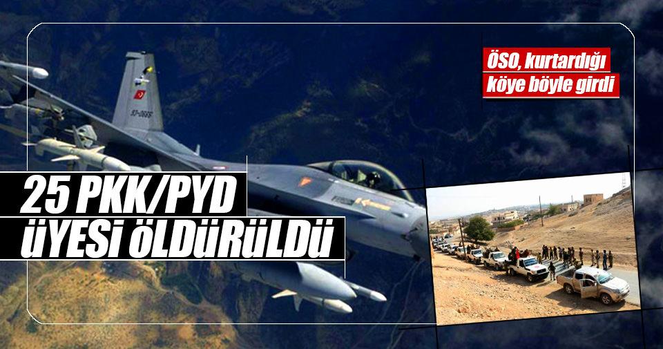 25 PKK/PYD üyesi öldürüldü