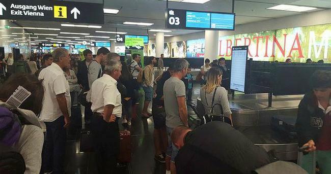 Viyana havalimanında kaos