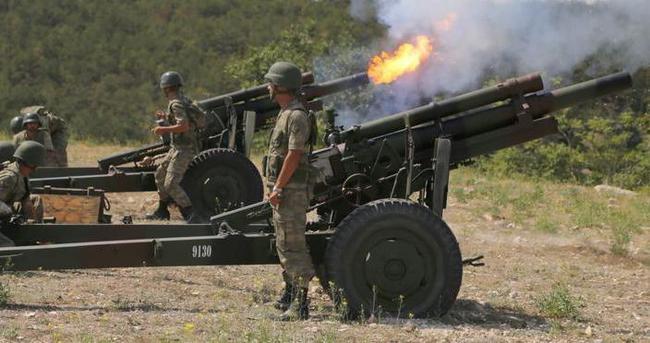 Irak sınırındaki PKK hedefleri top atışına tutuldu