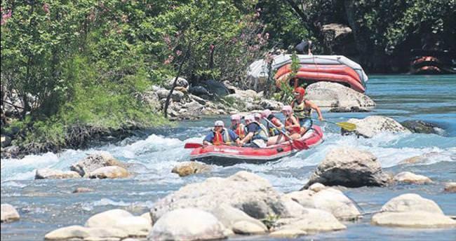 Raftingcinin gözdesi yerli tatilciler oldu