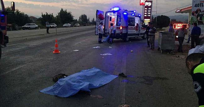 Manisa'da trafik kazası: 1 ölü!