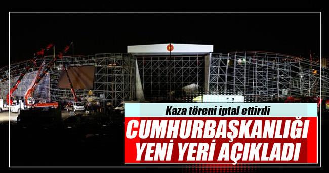 Ankara'da platform kazası töreni iptal ettirdi