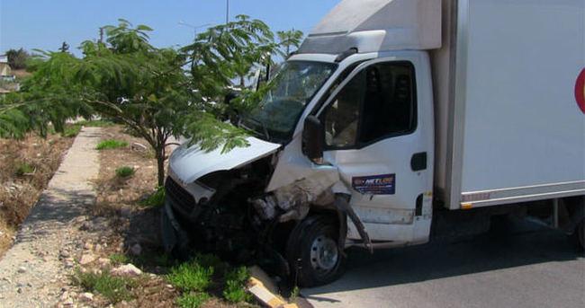 Kazada sürücü ölümden döndü