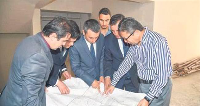 Başkan Tiryaki'den şantiyelere inceleme
