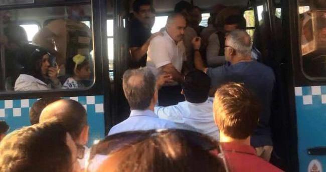 Yaşlı adamı otobüsten kovdular