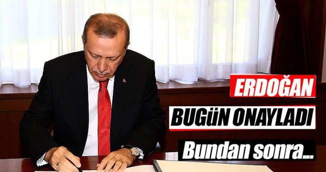 Cumhurbaşkanı Erdoğan İsrail anlaşmasını onayladı