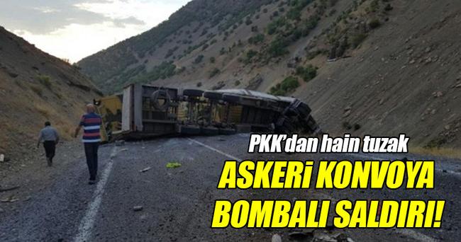 Askeri konvoya bombalı saldırı!