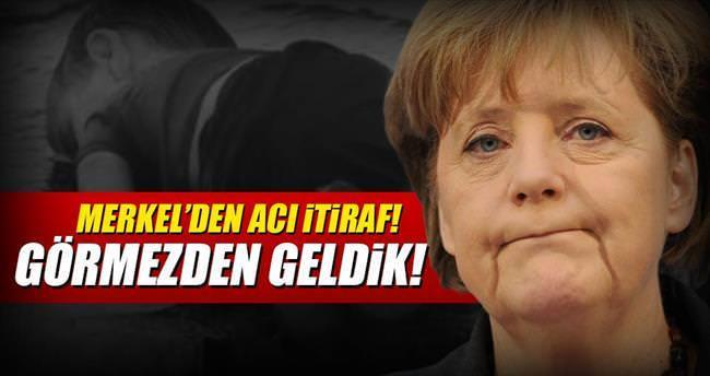 Merkel: Mülteci krizini görmezden geldik
