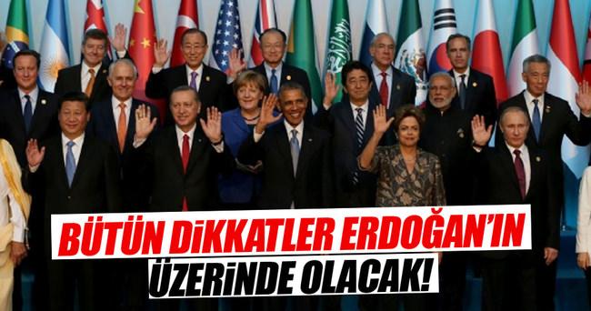 Bütün dikkatler Erdoğan'ın üzerinde olacak!