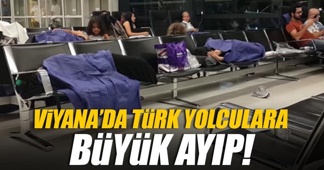 Viyana Havalimanı'nda Türk yolcular perişan oldu