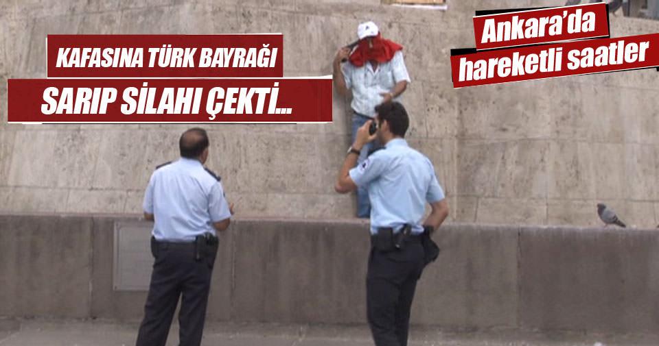 Ankara'da Atatürk Anıtı önünde intihar girişimi