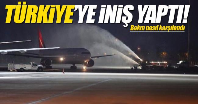 İlk charter uçuşu gerçekleşti!