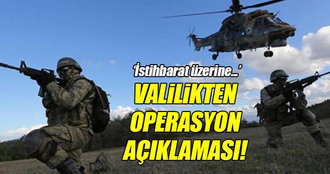 Van Valiliği'nden operasyon açıklaması!