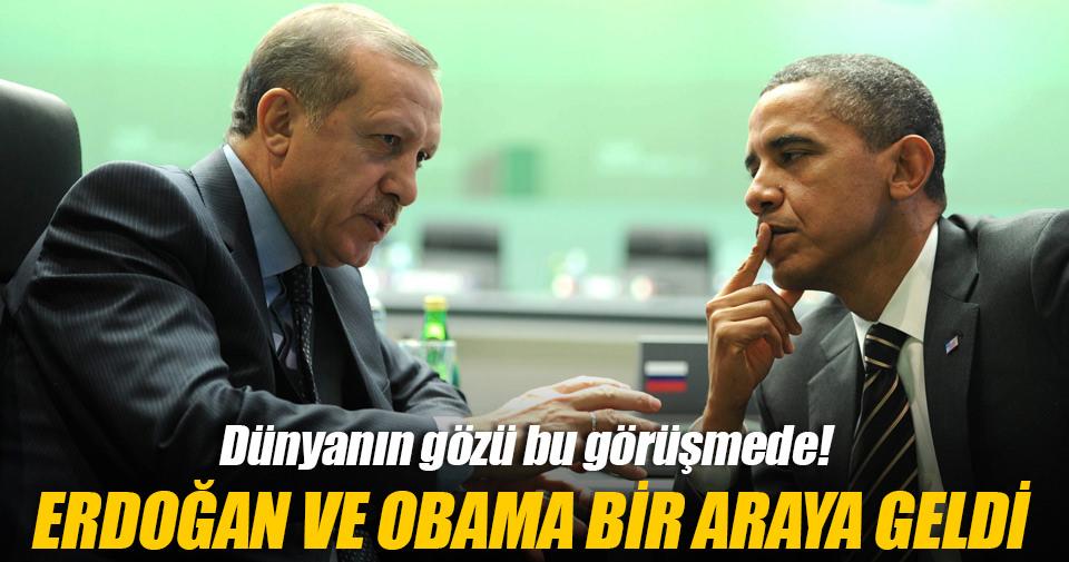 Cumhurbaşkanı Erdoğan - Obama görüşmesi sona erdi