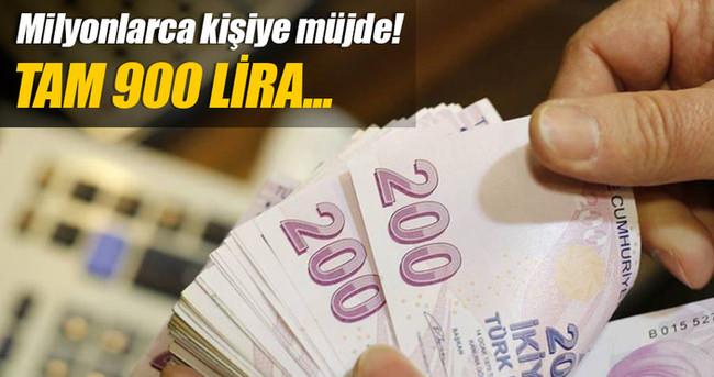 2 bin lira maaşa 900 lira ek