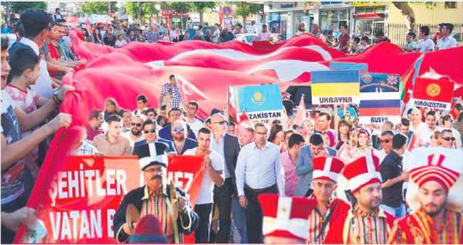 Pursaklar'da şehitler için büyük yürüyüş