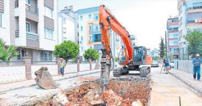 İki mahallede su baskını önleniyor