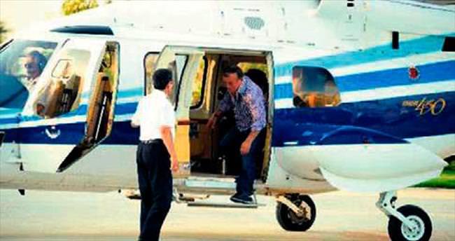 Ağaoğlu'nun helikopteri F-16'ları alarma geçirdi