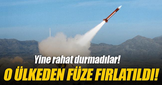 Kuzey Kore denize üç adet balistik füze fırlattı