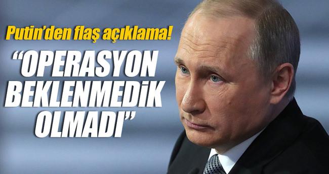Putin flaş 'Fırat Kalkanı' açıklaması