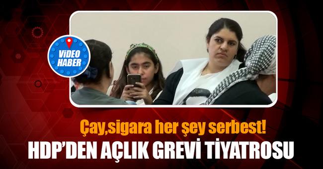 HDP'den 'açlık grevi' tiyatrosu
