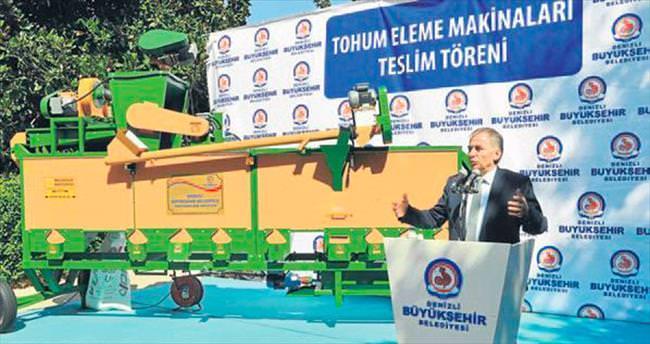 Denizli Büyükşehir'den çiftçiye makine desteği