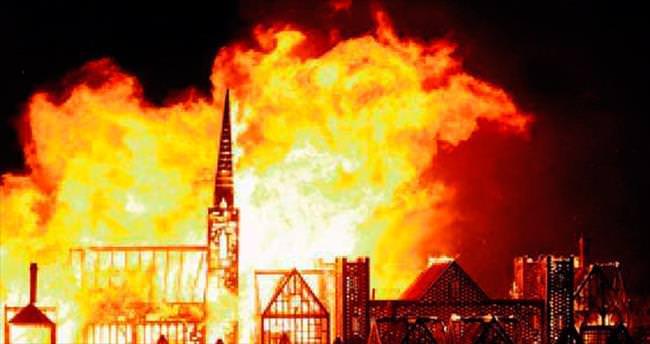 Londra cayır cayır yandı!