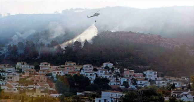 İspanya'da 319 hektar kül oldu