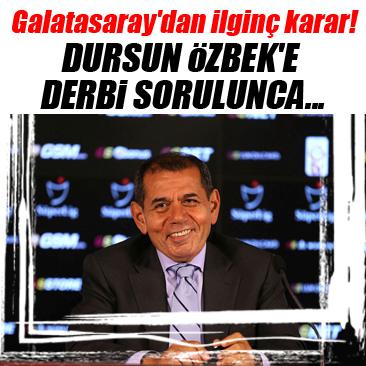 Galatasaray'dan derbi öncesi sessizlik kararı