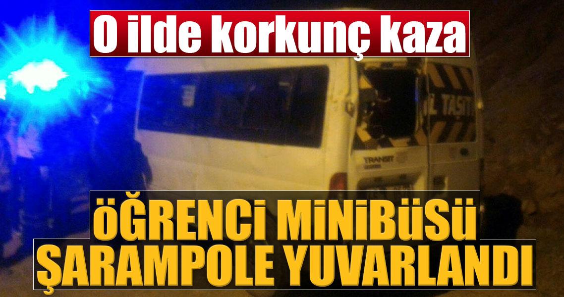 Öğrenci servisi şarampole devrildi 14'ü öğrenci 15 yaralı