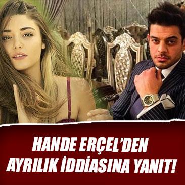 Hande Erçel'den ayrılık iddiasına yanıt