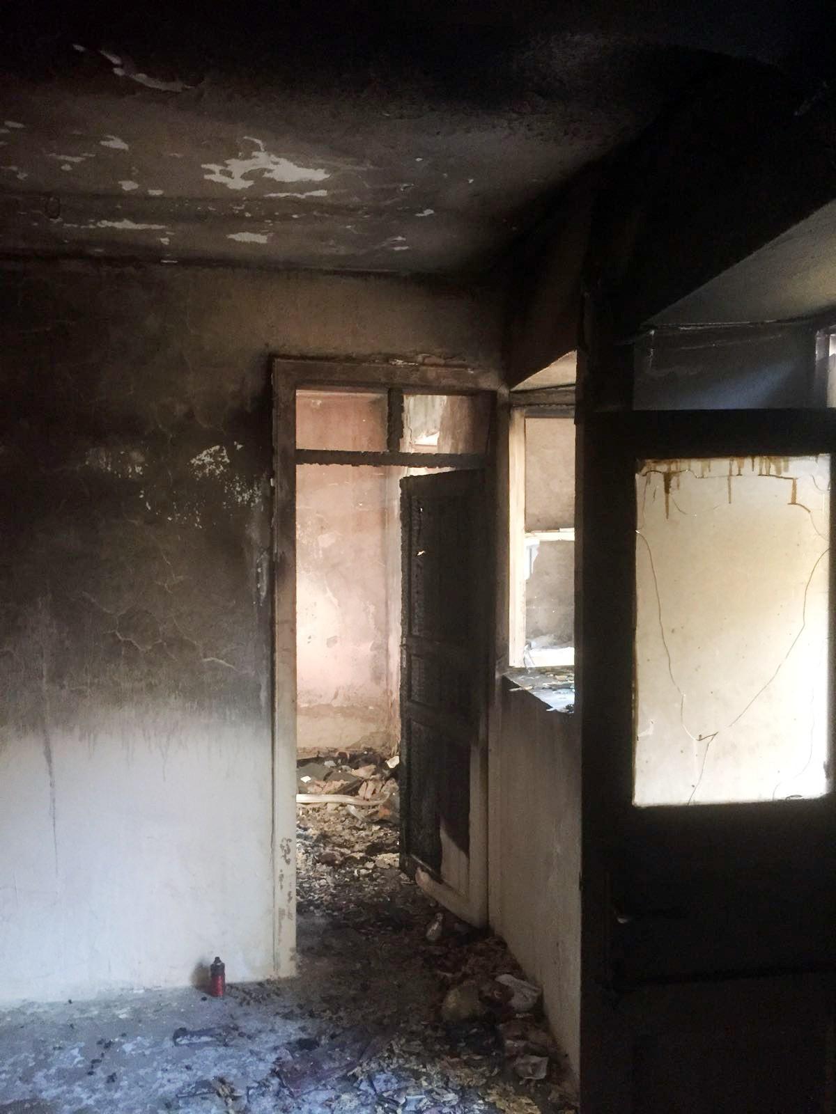 Kiracı, oturduğu evi ateşe verdi