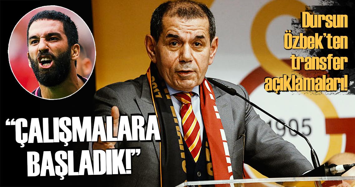 Son dakika: Dursun Özbek'ten flaş Arda Turan açıklaması