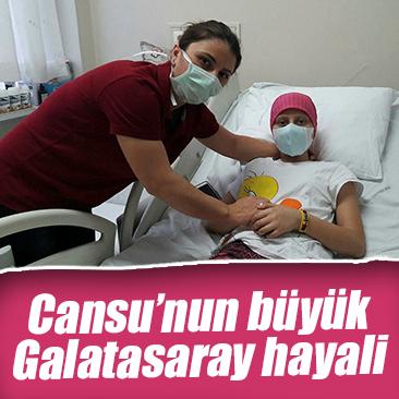 Lösemi hastası Cansu'nun hayali, Galatasaraylı futbolcularla tanışmak
