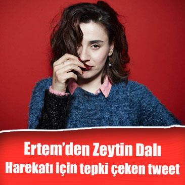 Şarkıcı Ceylan Ertem'den Zeytin Dalı Harekatı için olay tweet
