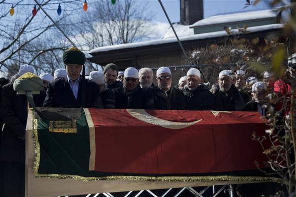 New York'ta şeyh cenazesi! Böyle defnedildi...