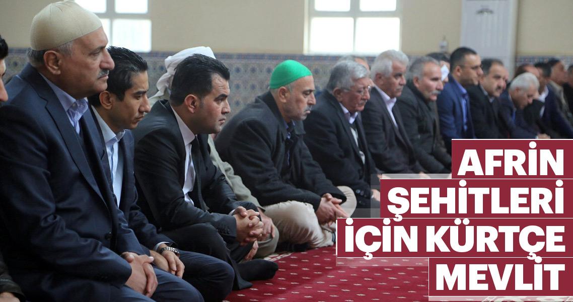Şehit olan Mehmetçikler için Kürtçe mevlit