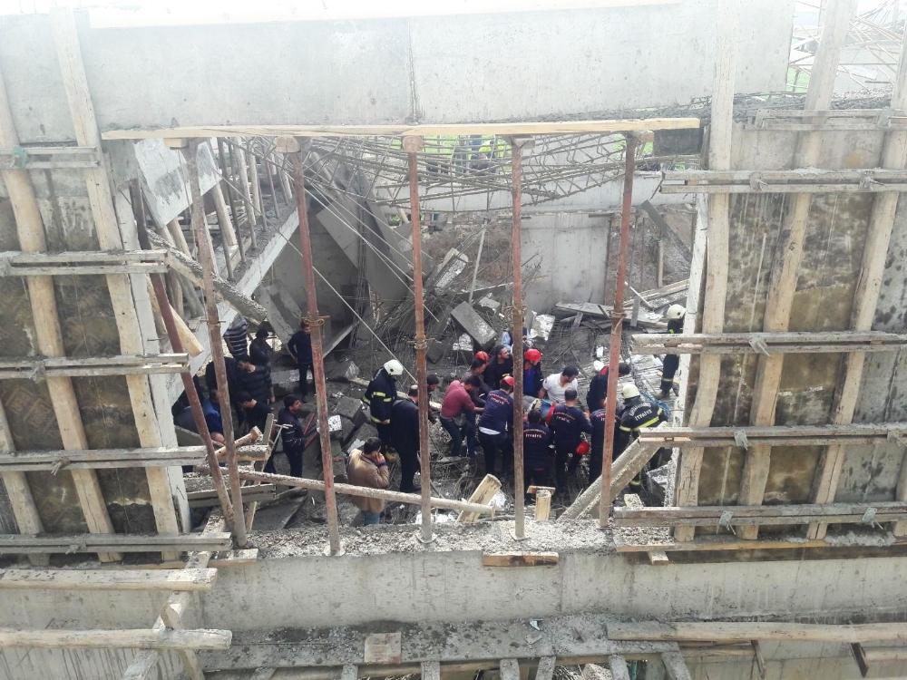 Kahramanmaraş ta inşaatta göçük 1 ölü 5 yaralı